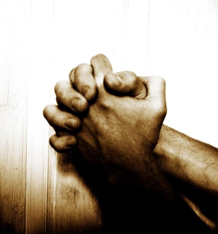 image of hands folded together in prayer