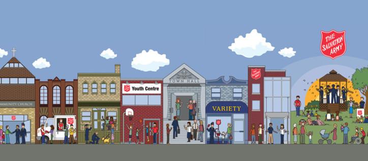 image of a cartoon city street