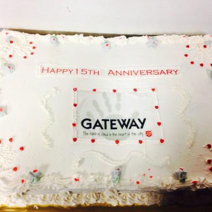 image of Gateway anniversary cake