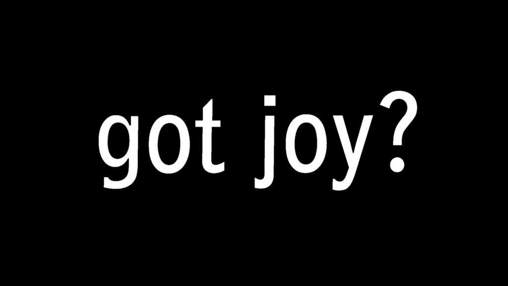 the words got joy?