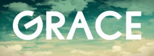 the word 'grace' written in the sky